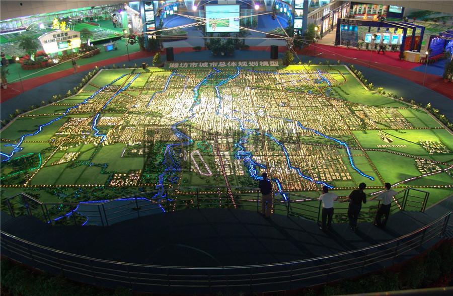 北京奥凯模型--潍坊新区总体规划模型