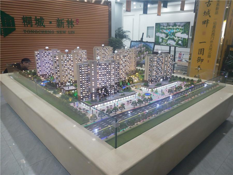 数字多媒体建筑沙盘模型用于展厅,建筑沙盘常用于房地产销售